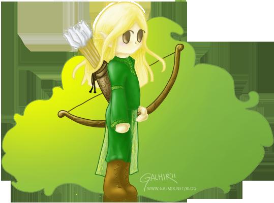 Ilustracion digital de un elfo del juego ragnarok online