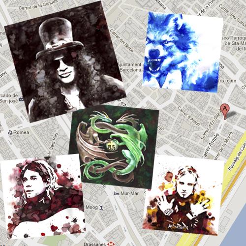 exposición barcelona ilustraciones en el bar bollocks