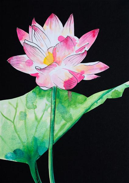 ilustración acuarelas flor